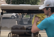 What do I use to clean my golf cart windshield?