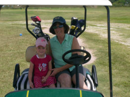 kids and golf carts