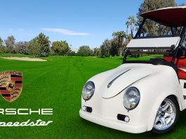 Caddyshack Porsche Speedster Golf Cart