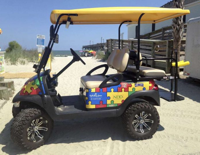 Autism Golf Cart