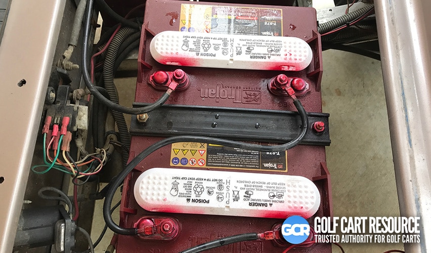 age of golf cart batteries